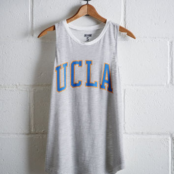 Tailgate Women's UCLA Bruins Stripe Tank, Gray