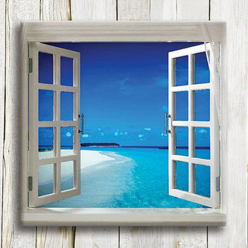 "Window to the sea. Fine art print. 10""/10"""