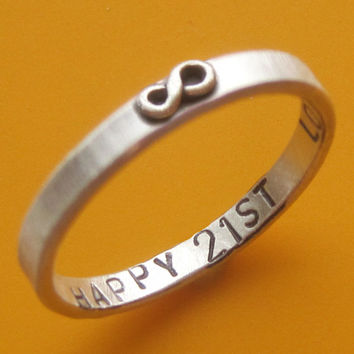 Custom Stamped Thin Infinity Ring