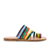 Elina Linardaki Accordion Player Sandal in Multi