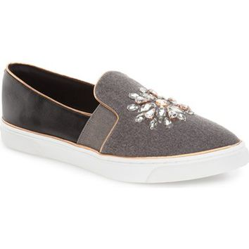 Ted Baker London 'Gheyen' Crystal-Embellished Pointy Toe Sneaker (Women) | Nordstrom