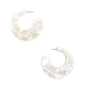 Faux Shell Hoop Earrings