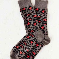 Happy Socks Leopard Sock- Charcoal One