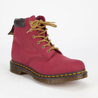 Dr Martens 939 6 Eye Womens Hiker Boots Red  In Sizes