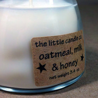 Soy Jar Candle Oatmeal Milk & Honey Scented by littlecandles