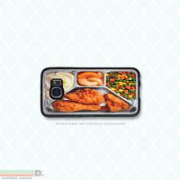 Retro TV Dinner, , 6 variations, Custom Phone Case for Galaxy S4, S5, S6
