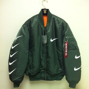 Nike x Alpha Industries MA-1 Trending Bomber Jacket