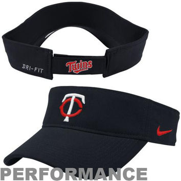 Nike Minnesota Twins Stadium Adjustable Performance Visor - Navy Blue