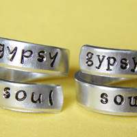 Best Friends Forever Rings Set Handmade Gift Under 20