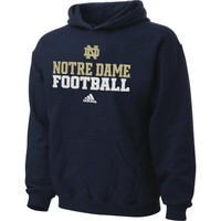 adidas Notre Dame Fighting Irish 2012 Navy Blue Toddler Practice Hooded Sweatshirt