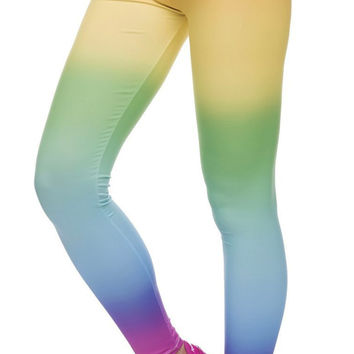 Gradient Colorful Leggings Design 643