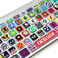 Macbook Keyboard Super Hero Skin