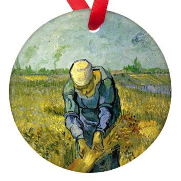 Vincent Van Gogh Harvester Porcelain Ornaments