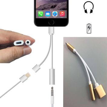 2in1 For iphone 7 Audio Charging Cable Adapter For Lighting iPho 37be40ebc