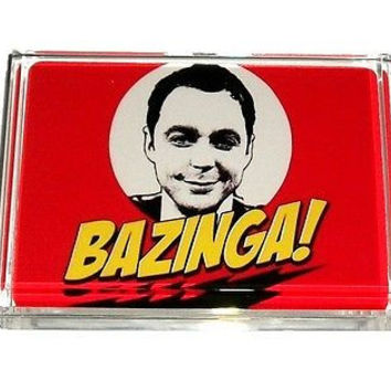 The Big Bang Theory Sheldon Cooper BAZINGA Acrylic Executive DeskTop Paperweight