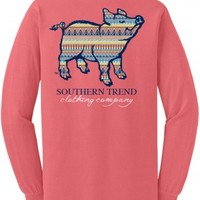 Aztec Pig Long Sleeve