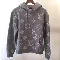 Louis Vuitton men and women fashion trend printing long-sleeved shirt sweater hoodie F