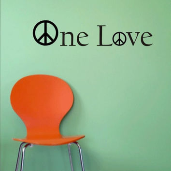 Bob Marley One Love Version 1 Decal Quote Sticker Wall Vinyl Art Decor