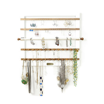 Karli White Wall Hanging Jewelry Storage