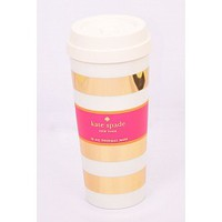 Kate Spade New York Thermal Mug- Gold Stripe
