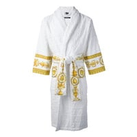 White and Gold Bathrobe by Versace
