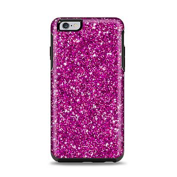 The Bright Pink Glitter Apple iPhone 6 Plus Otterbox Symmetry Case Skin Set