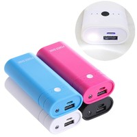 Portable 2x18650 Battery Charger 5V USB Mobile Power Bank Case Kit DIY Box Phone #D