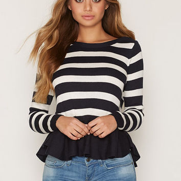 onlPEGGY L/S PEPLUM PULLOVER KNT, Only