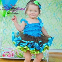 The Milania Satin Ribbon Trim Tutu (Newborn - 18 Months) Birthday Tutu - Ballet Tutu - Dress Up Tutu - Baby Girl Tutu - Photo Prop