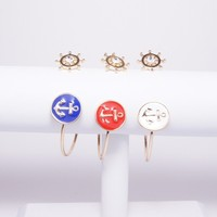 Anchors Away Enamel Bangle