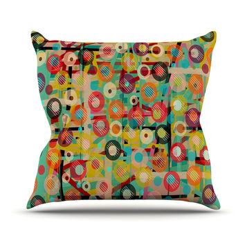"Bri Buckley ""Gift Wrapped"" Crazy Abstract Throw Pillow"