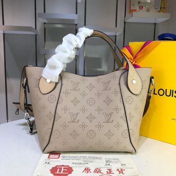 DCCK 1589 Louis Vuitton LV Double design Hina Mahina Small Handbag Khaki