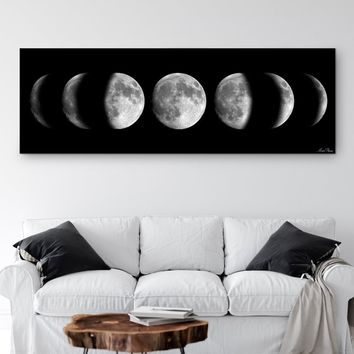 Large Moon Phases Canvas Art