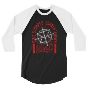 "Seth Rollins ""Burned It Down"" Raglan T-Shirt"