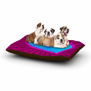 "Anne LaBrie ""Love Light"" Blue Modern Dog Bed"