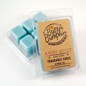 Amish Quilt Scented Wax Melts - Maximum Fragrance Wax Cubes - Sweet Cinnamon Vanilla Allspice Sugar Aroma Candle Melts