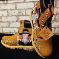 DCK7YE Custom Timberland. Custom Timberlands. Custom Boots. Painted Boots. Painted Tims