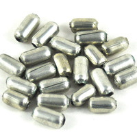 Silver Metal Tube Barrel Beads - Spacer Beads Jewellery Supplies - Costume and Craft Supplies - DeeDeeSupplies on Etsy