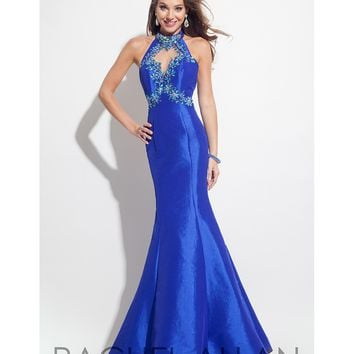 Preorder - Rachel Allan 7144 Royal Blue Sexy Halter Mermaid Long Dress 2016 Prom Dresses