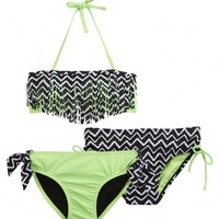 3 Piece Tribal Bikini Swimsuit
