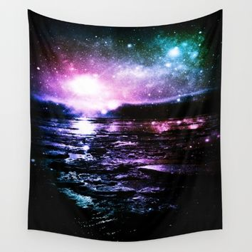 Mystic Waters Cool Tone Ombre Wall Tapestry by 2sweet4words Designs