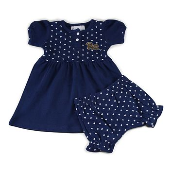 Pitt Girl's Heart Dress with Bloomers