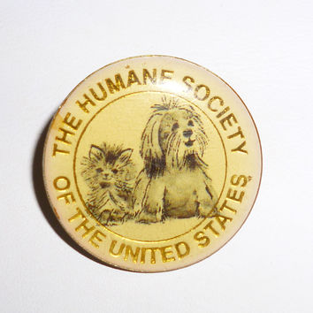 Cat & Dog The Humane Society Of The United States Pin