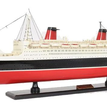 SS France Painted Hancrafted Cruise Ships Models