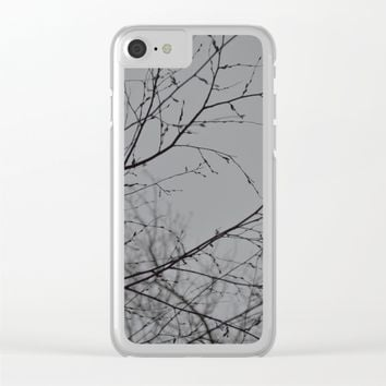 Branches Impressions Clear iPhone Case by ARTbyJWP