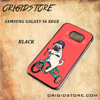 Haters Gonna Hate Pug BicycleSnap on Black White and 3D Samsung Galaxy S6 Edge Case