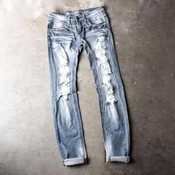 12th street distressed skinny denim jeans