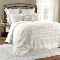 The Coco Romantic Ruffle 7PC Comforter Bedding SET