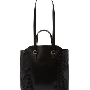 Foley & Corinna Women's Clio Laser-Cut Leather Tote - Black