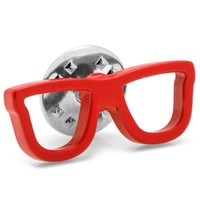Glasses Lapel Pin (Red)